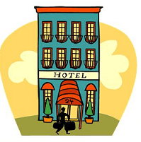 Hotel Accommodation Clipart