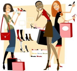 Ladies Shopping Clipart