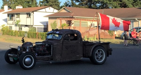 Rat Rod With Canada Flag