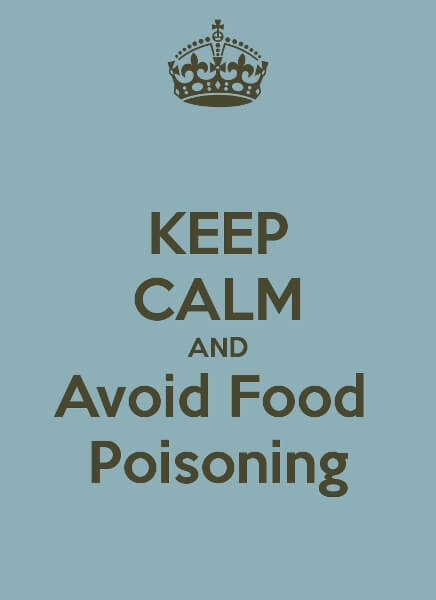 Keep Calm Avoid Food Poisoning Poster