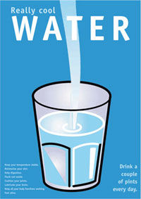 drinking water poster