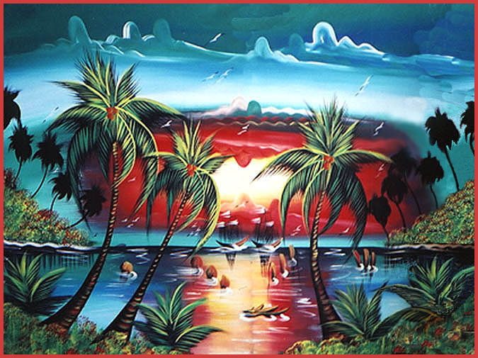 Tropical Colorful Painting