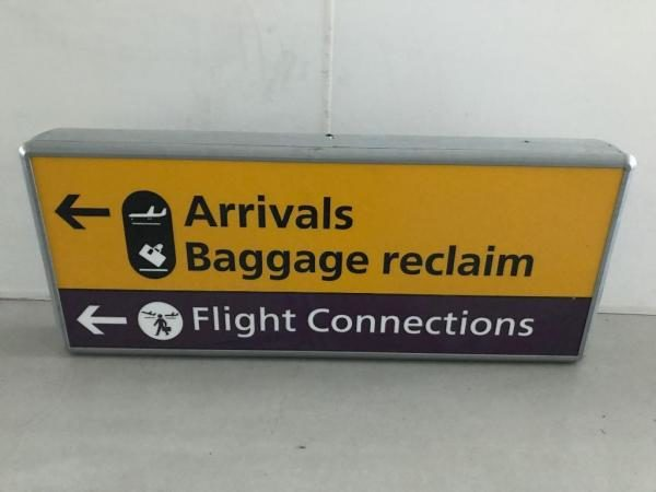 Flight Connections Sign