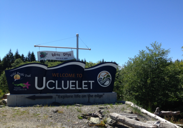 Ucluelet Welcome Sign