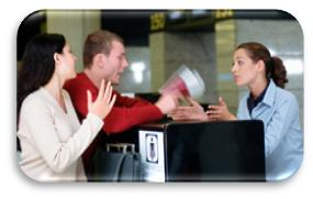 airline reservations ticket counter