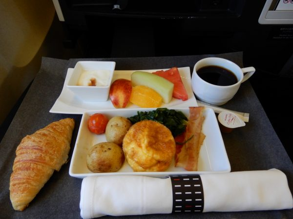 Japan Airlines Business Class Breakfast
